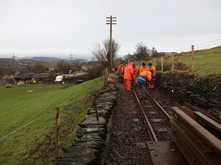 Other Permanent Way work currently underway includes relaying at Lloc Meurig and Lotties Crossing