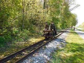 WW1 speeder Busta in action on its second visit to the line