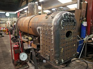 The completed boiler
