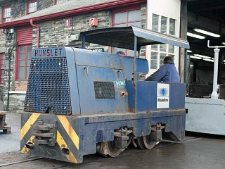 Shunter, Hunslet Harold, has resumed duties as one of the works shunters following a prolonged absence