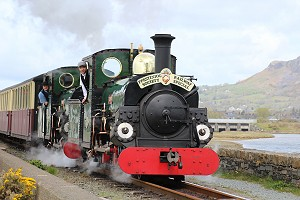 Linda and Blanche together on the Ffestiniog Railway