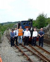 Awards train at Rhiw Goch
