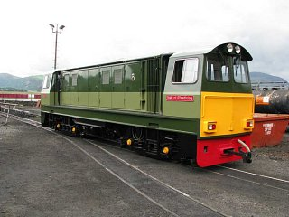 Newly repainted Vale of Ffestiniog