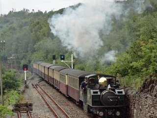 The Earl of Merioneth passes with an up train