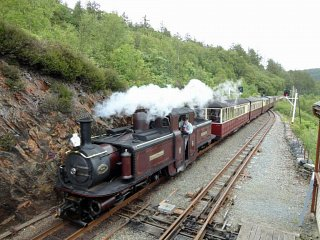 Merddin Emrys heads past on a down train