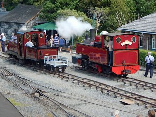 Prince and Russell on two foot gauge temporary track