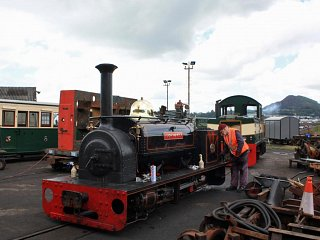 Hugh Napier being steamed in the works yard