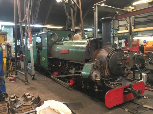 In the New Erecting Shop with boiler and saddle tank refitted