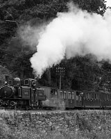 Merddin Emrys and the Colonel Stephens train